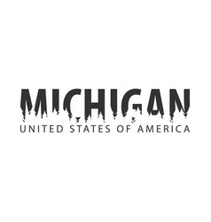 Michigan usa united states of america text or vector