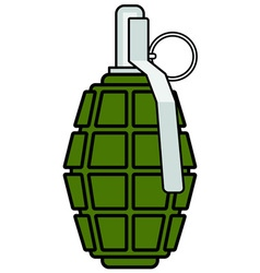 Military grenade icon vector image