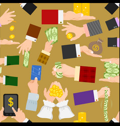 money hands human businessman arm holding vector image