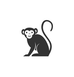 monkey silhouette black and vector image