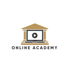 Online education and learning logo template vector
