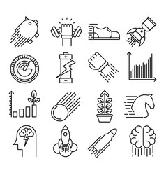 performance outline icons vector image