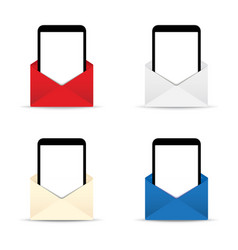 phone tablet in an envelope vector image