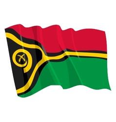 Political waving flag of vanuatu vector