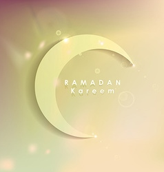 Ramadan Kareem greeting card with soft subtle vector image