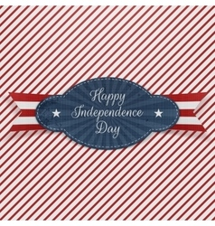 Realistic Graphic Element for Independence Day vector image