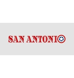 San Antonio city name with flag colors vector image