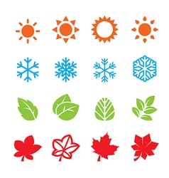 season icon set vector image