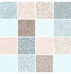 Set of sixteen seamless patterns vector image