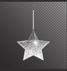 Shining christmas star vector