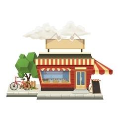 Shop low poly icon vector image