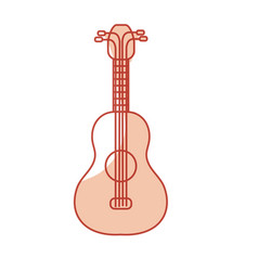 Silhouette acoustic guitar instrument to play vector
