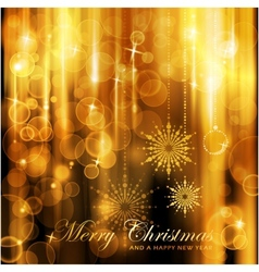 Sparkling lights christmas card vector