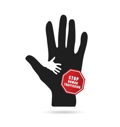 Stop humain trafficking icon vector