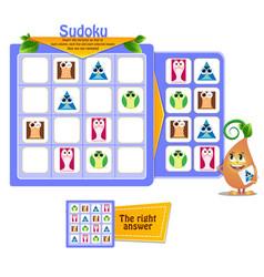 Sudoku logic game shapes vector