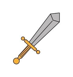 sword weapon icon vector image