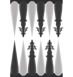 template for backgammon vector image