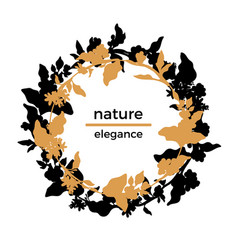 template nature circle 2 vector image