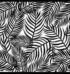 Tropical pattern floral background palm leaves vector