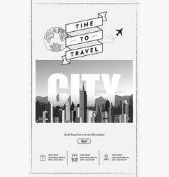 urban landscape website template vector image
