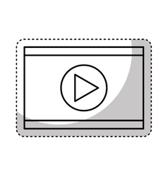 video player isolated icon vector image