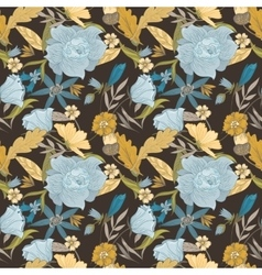 Vintage fall pattern vector