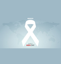 world aids day poster layout design vector image