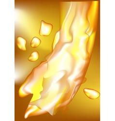 Yellow liquid vector