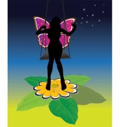beautiful fairy vector image vector image