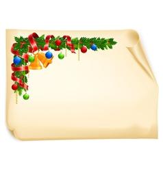 christmas angle garland vector image vector image