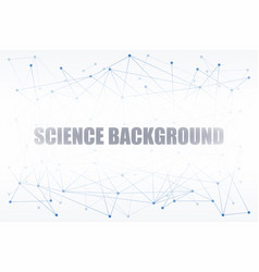 digital background of science or blockchain vector image vector image