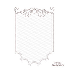 victorian vertical frame of calligraphic design vector image