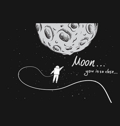 astronaut travels to the moon vector image