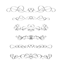 calligraphic frame 4 vector image vector image