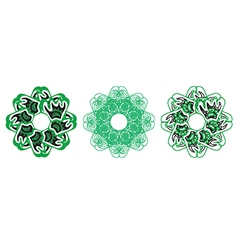 Decorative floral pattern motif vector image vector image