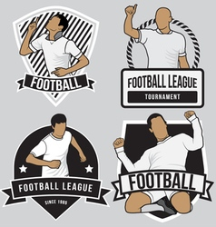Football soccer badges patches vector image vector image
