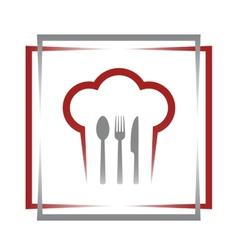 restaurant sign in frame vector image vector image