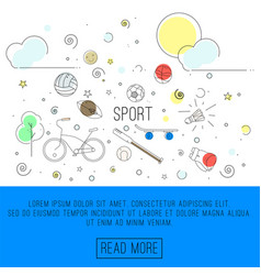 sport or healthy lifestyle vector image