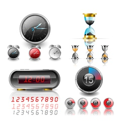 clocks and stopwatch vector image