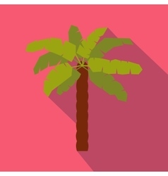 Green palm icon in flat style vector image vector image