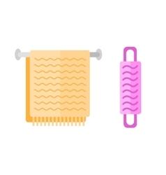 hand holder towel vector image