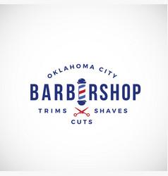 Retro barbershop abstract sign emblem or vector