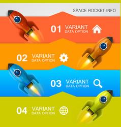 rocket racing info art cover vector image vector image