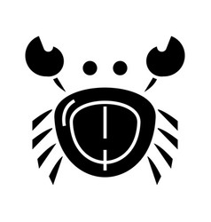 crab icon black sign on vector image vector image