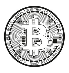 crypto currency black coin with black lackered vector image vector image