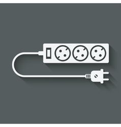 extension cord symbol vector image