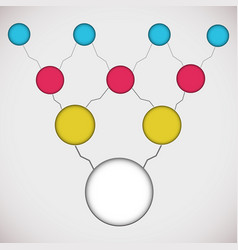 flat business diagram vector image vector image
