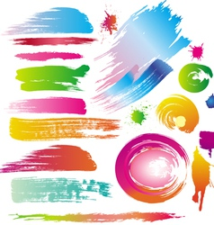 ink and paint splatters vector image vector image