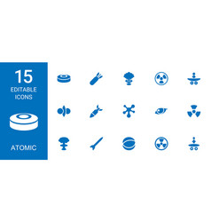 15 atomic icons vector