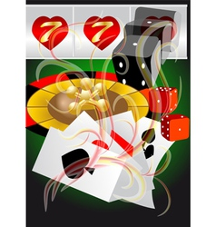 abstract casino vector image